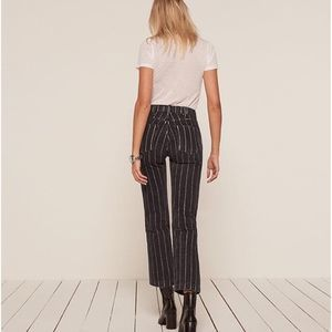 Reformation Roper Smart Ass Jeans Black Striped 24